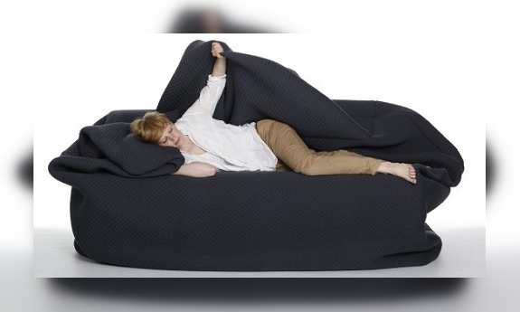 Bean Bag Bed With Built In Blanket And Pillow | Get Yours Now! Pertaining To Bean Bag Sofas And Chairs (Image 1 of 10)
