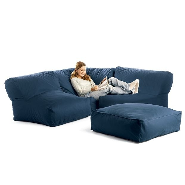 Bean Bag Sectional Sofa | Ideas For The Basement!! | Pinterest Throughout Bean Bag Sofas (Image 1 of 10)