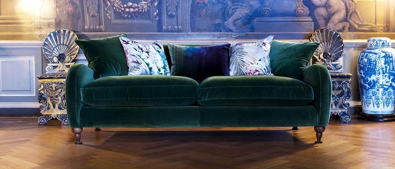 Beautiful British Handmade Velvet Sofas Projects To Try | Interior In Velvet Sofas (Image 1 of 10)