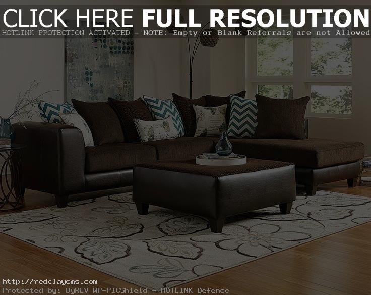 Beautiful Brown Sectional Sofa Decorating Ideas Images – Liltigertoo With Regard To Sectional Sofas Decorating (Image 1 of 10)