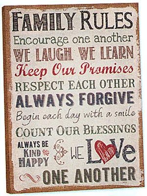 Beautiful Family Rules Wall Art | About My Blog Inside Canvas Wall Art Family Rules (Image 3 of 20)