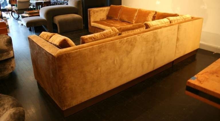 Beautiful Gold Sectional Sofa – Buildsimplehome Inside Gold Sectional Sofas (View 2 of 10)