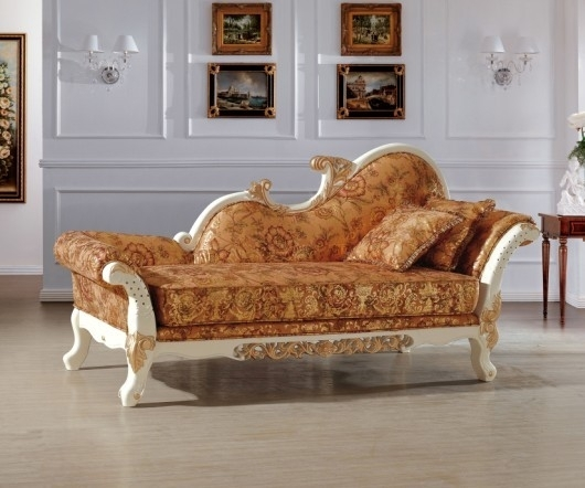 Beautiful Luxury Italian Royal Style Chaise/ Lounge Chair/recliner Intended For Bedroom Sofas And Chairs (Image 1 of 10)