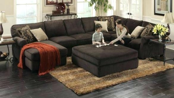 Beautiful Oversized Sectional Couches Or Sectional Sofa With Intended For Sectionals With Oversized Ottoman (Image 1 of 10)