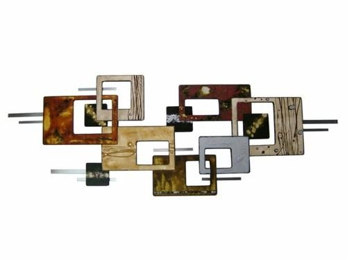 Beautiful Modern Metal Wall Hangings For Your Home: 20 Collection Of Geometric Modern Metal Abstract Wall Art