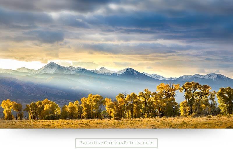 Beautiful Sunrise Over Mountains – Wall Art, Canvas Print With Mountains Canvas Wall Art (View 10 of 20)