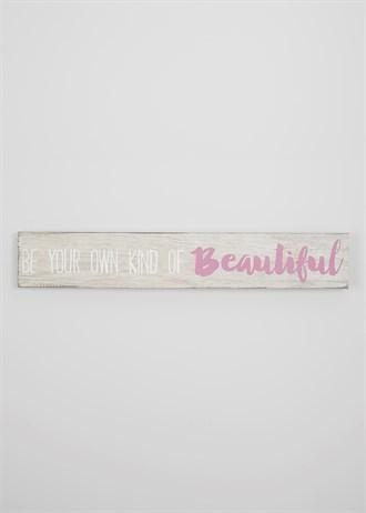 Beautiful' Text Canvas Print (90Cm X 15Cm) – Matalan | Decor Inside Matalan Canvas Wall Art (View 2 of 20)