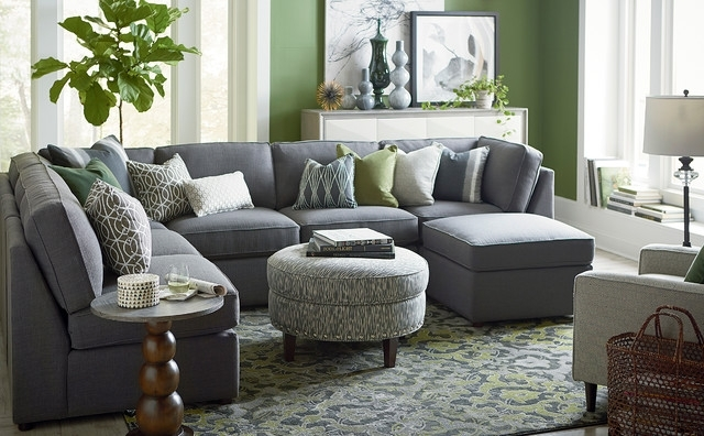 Beckie U Shaped Sectionalbassett Furniture – Contemporary With Regard To Blue U Shaped Sectionals (View 3 of 10)