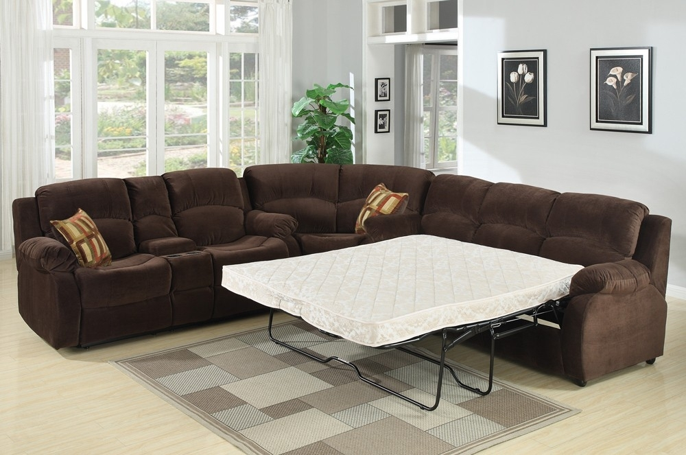 Bed Sectional Couch Tracey Recliner Sleeper Sectional Sofa S3Net Pertaining To Sleeper Sectional Sofas (Image 3 of 10)