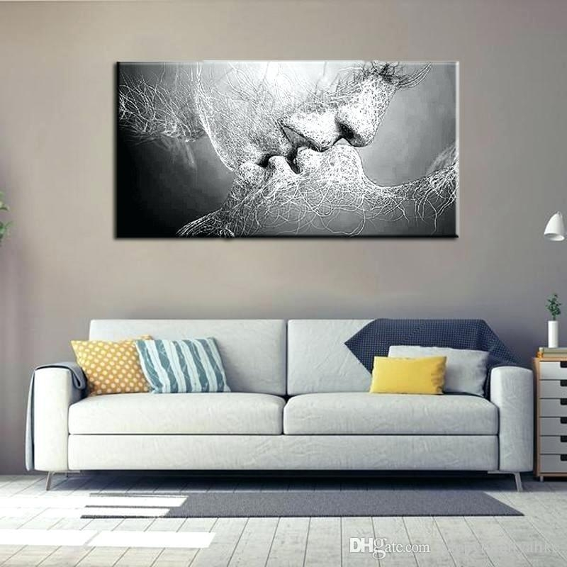 Bedroom Wall Art 2 Matte Canvas Spray Paintings Unframed Abstract Regarding Abstract Living Room Wall Art (Image 10 of 20)