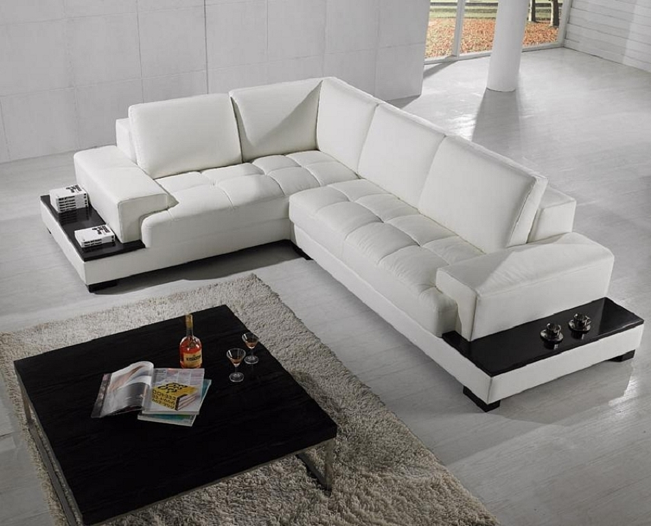 Beige L Shaped Sofa Leather — Fabrizio Design : L Shaped Sofa For With L Shaped Sofas (Image 2 of 10)