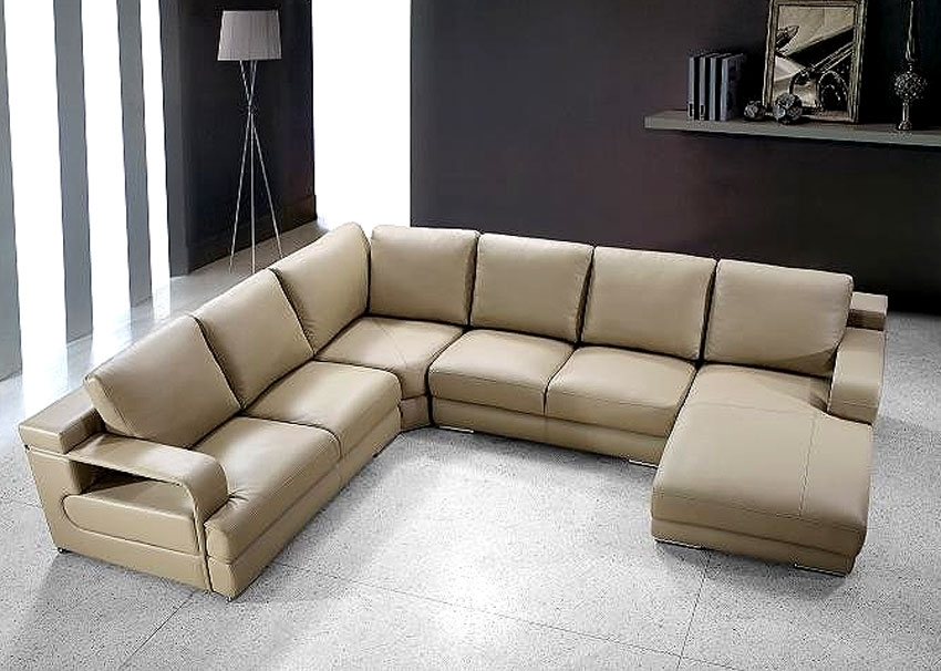 Beige Sectional Sofa Vg454 | Leather Sectionals Within Beige Sectional Sofas (Image 2 of 10)