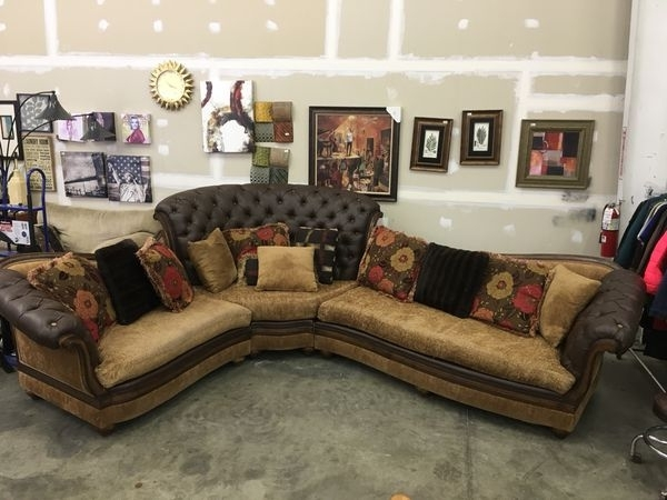 Benetti's Salvatore Luxury Tufted Sectional Sofa Rark Brown Wood In Harrisburg Pa Sectional Sofas (Photo 1 of 10)