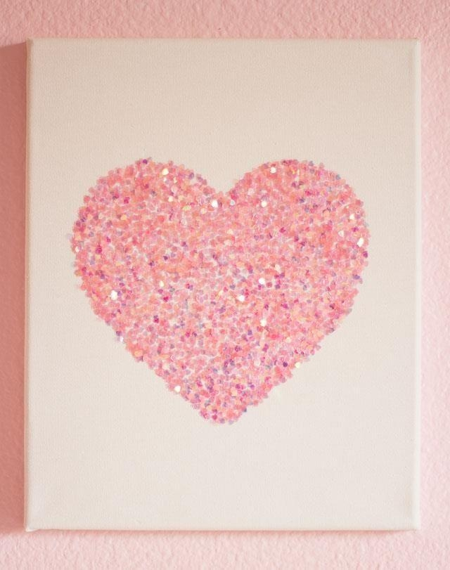 Best 25 Heart Wall Art Ideas On Pinterest Heart Canvas Chevron Inside Hearts Canvas Wall Art (Image 5 of 20)