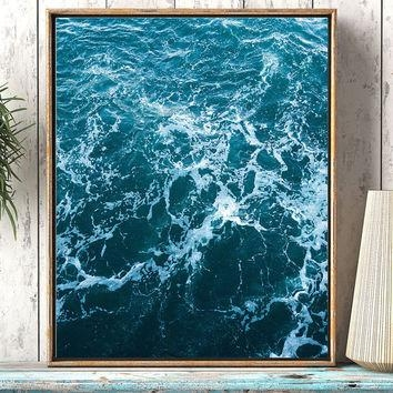 Best Abstract Ocean Art Products On Wanelo For Abstract Ocean Wall Art (Image 8 of 20)