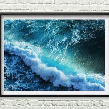 Best Abstract Ocean Art Products On Wanelo With Abstract Ocean Wall Art (Image 9 of 20)