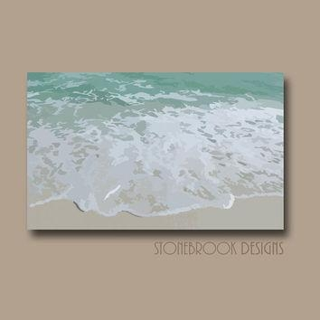 Best Beach Wave Paintings Products On Wanelo Intended For Beach Themed Canvas Wall Art (Image 9 of 20)