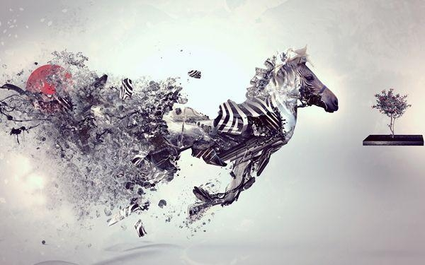 Best Cheap Modern Art Paintings Abstract Toy Horse Famous Artists Intended For Abstract Horse Wall Art (View 7 of 20)
