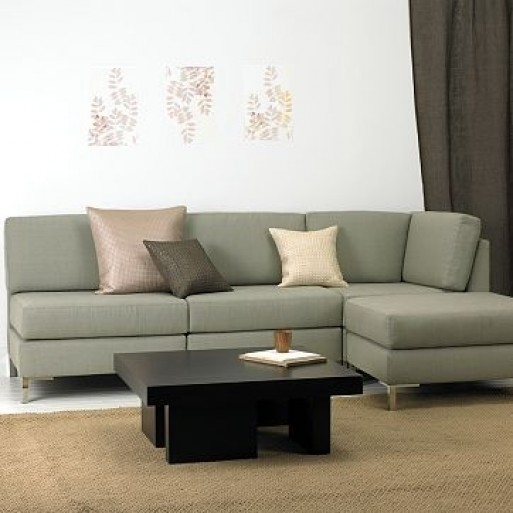 Best Choice Of Armless Sectional From West Elm Furnishings Better Inside Armless Sectional Sofas (Image 6 of 10)