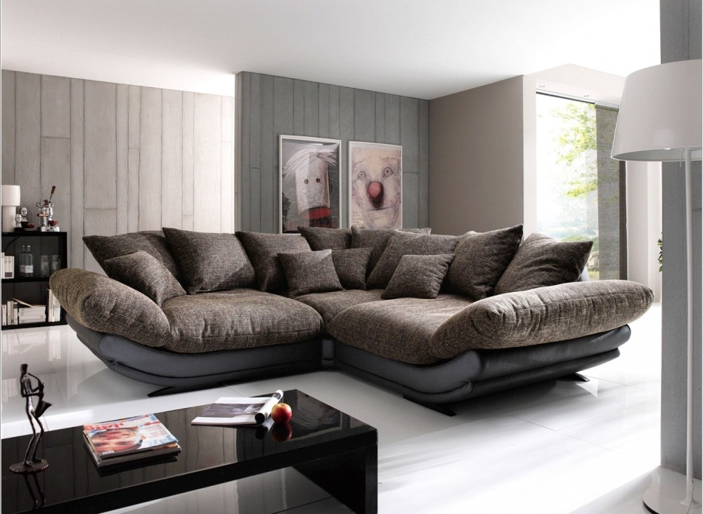 Best Choice Of Wonderful Large Sectional Sofa Capricornradio Big Regarding Wide Sectional Sofas (Image 3 of 10)