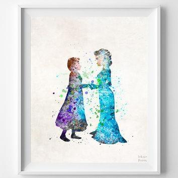 Best Disney Frozen Wall Art Products On Wanelo Inside Elsa Canvas Wall Art (Image 8 of 20)