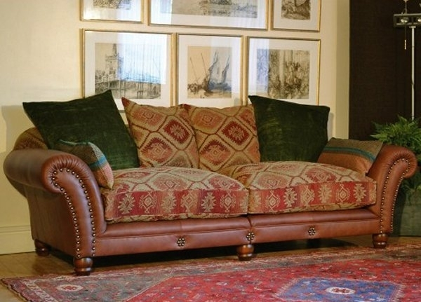 Best Fabric Leather Sofa Couch On Pinterest Pertaining To Prepare 9 For Leather And Cloth Sofas (Image 2 of 10)
