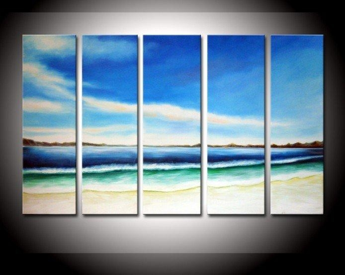 Best Hand Painted Oil Wall Art Color The Earth Decoration Abstract Inside Abstract Landscape Wall Art (Image 11 of 20)
