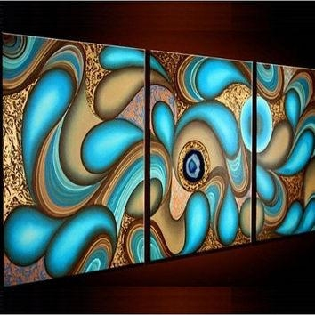 Best Large Abstract Oil Paintings Products On Wanelo Pertaining To Abstract Oil Painting Wall Art (Image 7 of 20)