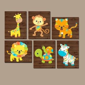 Best Zoo Baby Nursery Decor Products On Wanelo With Safari Canvas Wall Art (Image 6 of 20)