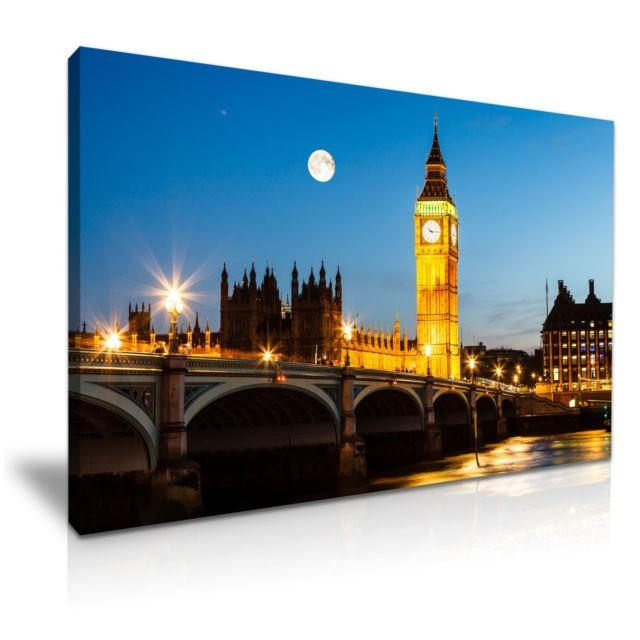 Big Ben House Of Parliament London Canvas Wall Art Picture Print Regarding Canvas Wall Art Of London (View 11 of 20)