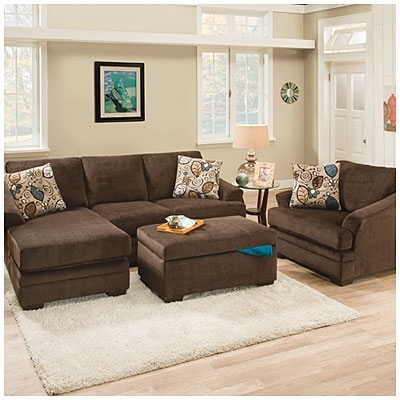 Big Lots $550 Sunflower Brown Sofa With Reversible Chaise | *to Do Regarding Brown Sofa Chairs (Image 2 of 10)