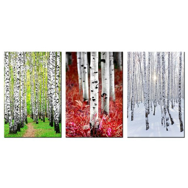 Birch Forest Painting Canvas Prints Landscape With Grove Of Silver Throughout Birch Trees Canvas Wall Art (View 19 of 20)