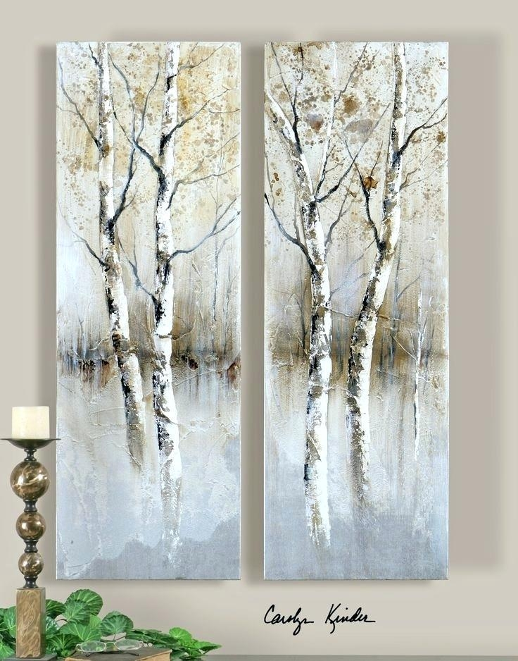 Birch Tree Wall Art Contemporary Panel Artwork Birch Tree Panel Intended For Birch Trees Canvas Wall Art (View 8 of 20)