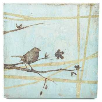 Bird On Branches Canvas Wall Decor | Hobby Lobby | 979757 Within Birds Canvas Wall Art (Image 4 of 20)