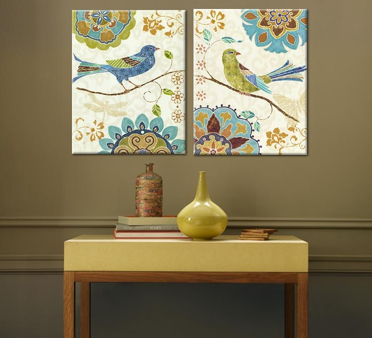 Bird Wall Art Canvas | Home Design Ideas Intended For Birds Canvas Wall Art (Image 5 of 20)