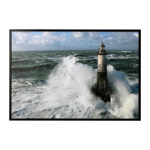 Björksta Picture With Frame Ar Men Lighthouse/black 200X140 Cm – Ikea Intended For Ikea Canvas Wall Art (View 20 of 20)