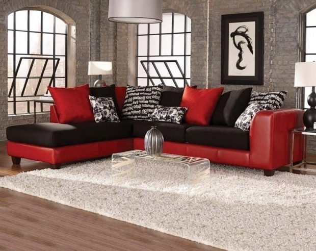 Black And Red Sectional Sofa – Pkpbruins With Red Black Sectional Sofas (View 5 of 10)