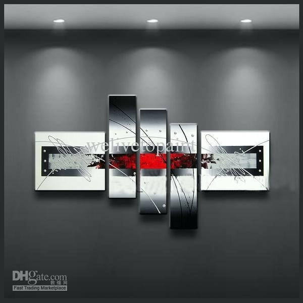 Black And White Wall Art With Red Red Black White Canvas Wall Art With Regard To Black And White Canvas Wall Art (Image 4 of 20)