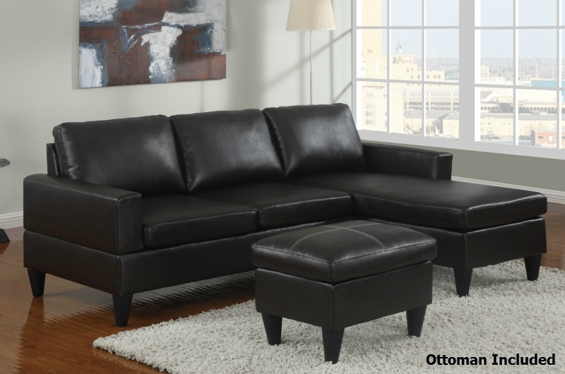Black Leather Sectional Sofa And Ottoman – Steal A Sofa Furniture In Leather Sectional Sofas With Ottoman (Image 2 of 10)