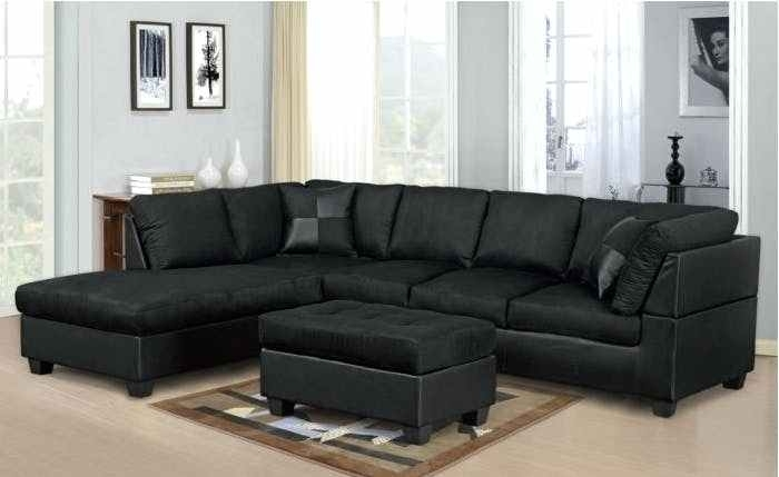 Black Sectional Couch Leather Sofa With Recliner Recliners For Sale For Black Sectional Sofas (Image 3 of 10)