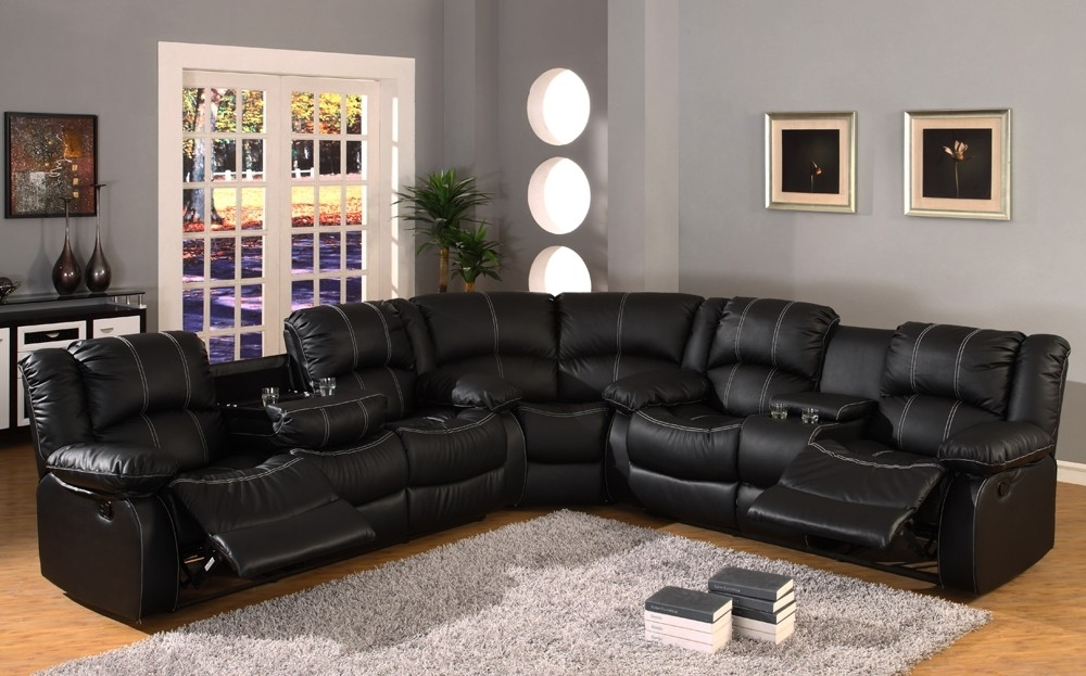 Black Sectional Reclining Sofas | Latest Home Decor And Design Throughout Leather Recliner Sectional Sofas (View 3 of 10)