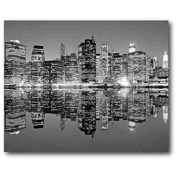 "Black & White Cityscape 16"" X 20"" Canvas Wall Art – Home – New With Regard To Black And White Canvas Wall Art (Image 2 of 20)"