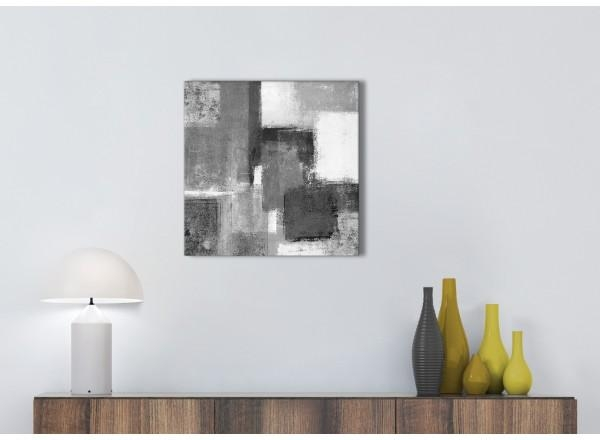 Black White Grey Kitchen Canvas Pictures Accessories – Abstract Intended For Grey Canvas Wall Art (View 19 of 20)