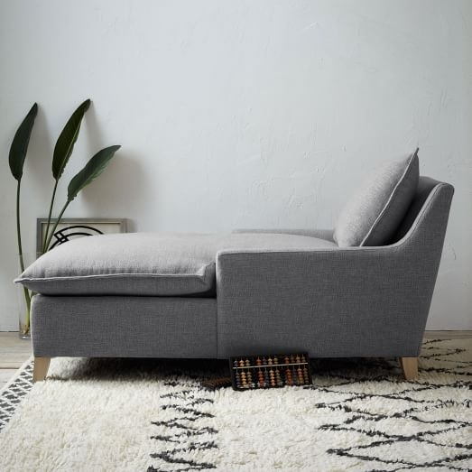 Bliss Down Filled Chaise | West Elm With Down Filled Sofas (View 6 of 10)