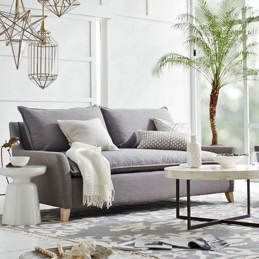 Bliss Sofa 91 5 West Elm Contemporary Down Filled In 0 | Lofihistyle Intended For Down Filled Sofas (Image 2 of 10)