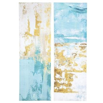 Blue & Gold Abstract Canvas Wall Decor | Hobby Lobby | 1470384 Regarding Hobby Lobby Abstract Wall Art (Image 5 of 20)