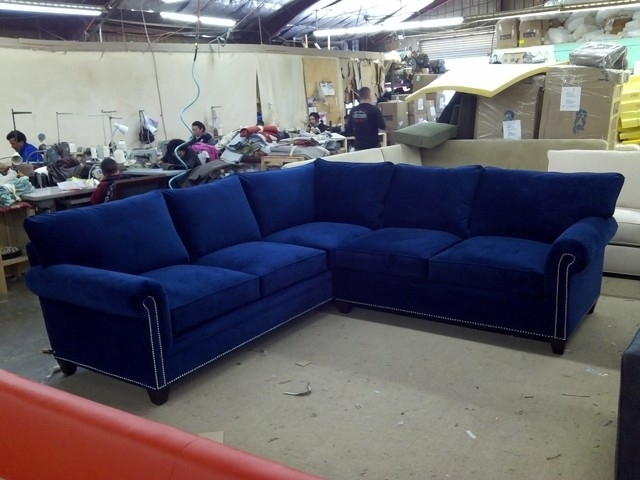 Blue Grey Sectional Sofa Suitable With Sleeper For Navy Designs 3 Pertaining To Blue Sectional Sofas (Image 1 of 10)
