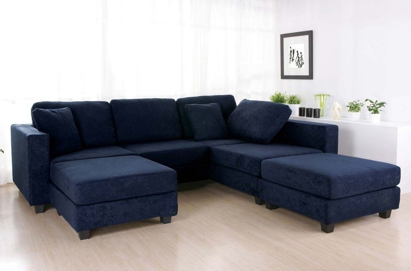 Blue Sectional Sofa Bonners Furniture Inside Decor 3 With Navy Idea Regarding Blue Sectional Sofas (Image 2 of 10)