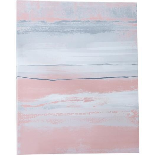 Blush Painting Print Canvas Within Pastel Abstract Wall Art (Image 9 of 20)