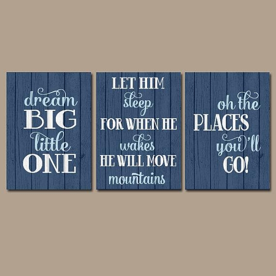 Boy Quote Wall Art Canvas Or Prints Boy Nursery Quote Intended For Large Canvas Wall Art Quotes (Photo 2 of 20)